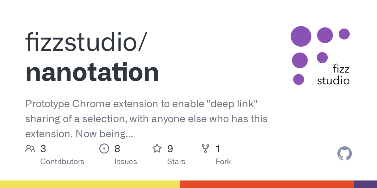 """GitHub - fizzstudio/nanotation: Prototype Chrome extension to enable """"deep link"""" sharing of a selection, with anyone else who has this extension. Now being developed by Fizz Studio."""