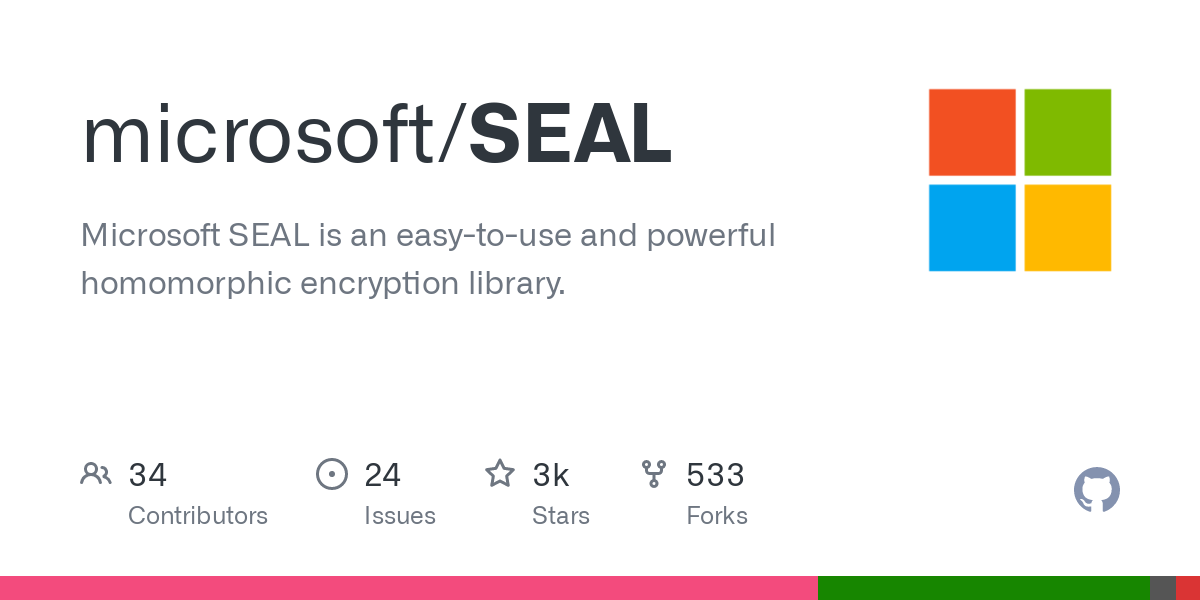 GitHub - microsoft/SEAL: Microsoft SEAL is an easy-to-use and powerful homomorphic encryption library.